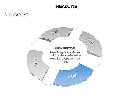 Donut Chart Toolbox, Slide 55, 03407, Pie Charts — PoweredTemplate.com