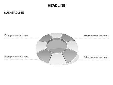 Donut Chart Toolbox, Slide 59, 03407, Pie Charts — PoweredTemplate.com