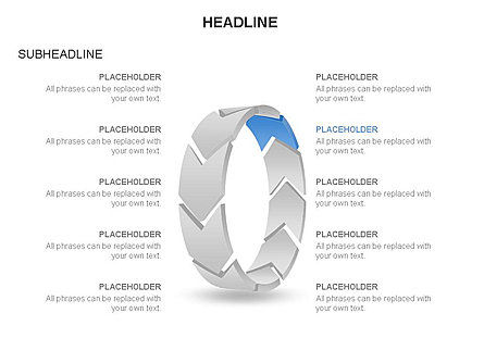 3D Circle Process Arrows Toolbox, Slide 10, 03408, Process Diagrams — PoweredTemplate.com