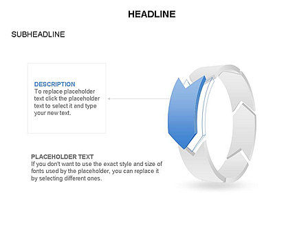 3D Circle Process Arrows Toolbox, Slide 25, 03408, Process Diagrams — PoweredTemplate.com
