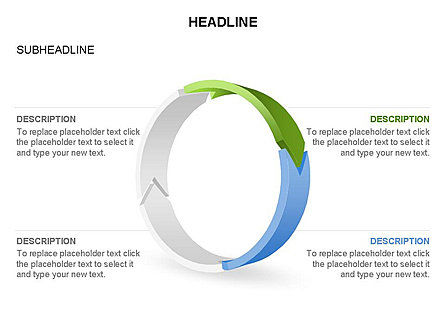 3D Circle Process Arrows Toolbox, Slide 27, 03408, Process Diagrams — PoweredTemplate.com