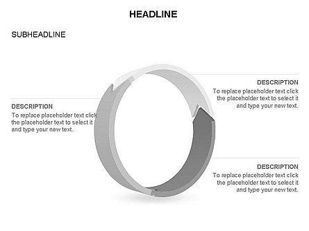 3D Circle Process Arrows Toolbox, Slide 28, 03408, Process Diagrams — PoweredTemplate.com