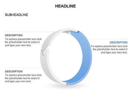 3D Circle Process Arrows Toolbox, Slide 29, 03408, Process Diagrams — PoweredTemplate.com