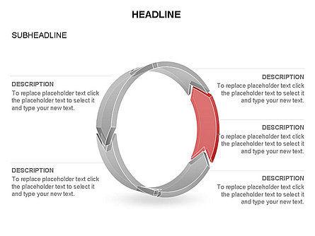 3D Circle Process Arrows Toolbox, Slide 30, 03408, Process Diagrams — PoweredTemplate.com