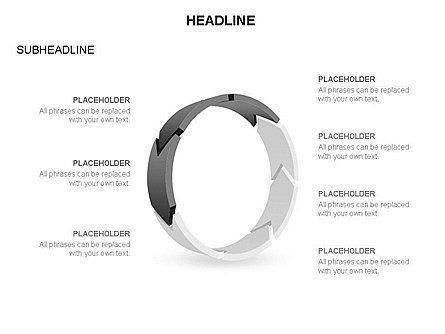 3D Circle Process Arrows Toolbox, Slide 33, 03408, Process Diagrams — PoweredTemplate.com