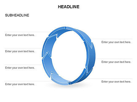 3D Circle Process Arrows Toolbox, Slide 34, 03408, Process Diagrams — PoweredTemplate.com