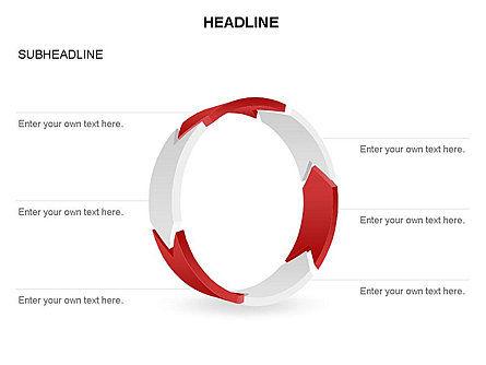 3D Circle Process Arrows Toolbox, Slide 35, 03408, Process Diagrams — PoweredTemplate.com