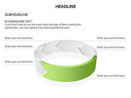 3D Circle Process Arrows Toolbox, Slide 41, 03408, Process Diagrams — PoweredTemplate.com