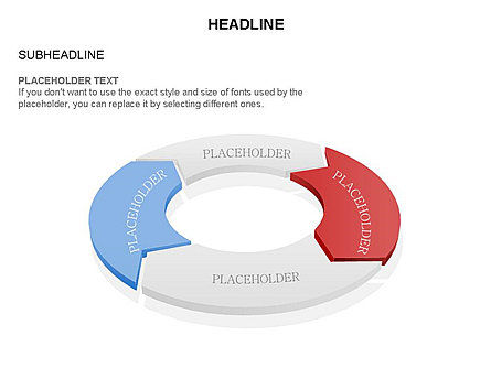 3D Circle Process Arrows Toolbox, Slide 42, 03408, Process Diagrams — PoweredTemplate.com