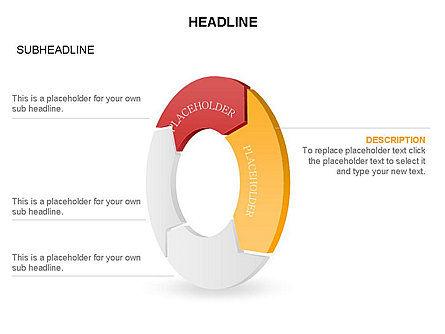 3D Circle Process Arrows Toolbox, Slide 43, 03408, Process Diagrams — PoweredTemplate.com
