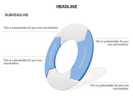 3D Circle Process Arrows Toolbox, Slide 44, 03408, Process Diagrams — PoweredTemplate.com