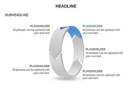 3D Circle Process Arrows Toolbox, Slide 5, 03408, Process Diagrams — PoweredTemplate.com