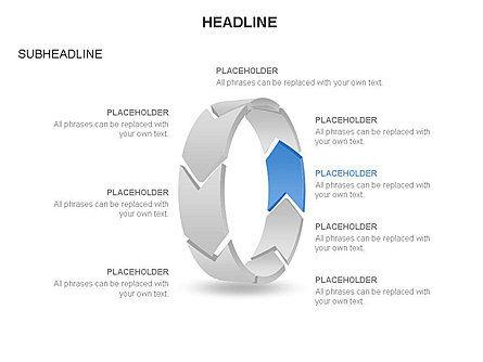 3D Circle Process Arrows Toolbox, Slide 8, 03408, Process Diagrams — PoweredTemplate.com