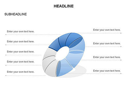 Donut Diagram Toolbox, Slide 26, 03409, Pie Charts — PoweredTemplate.com