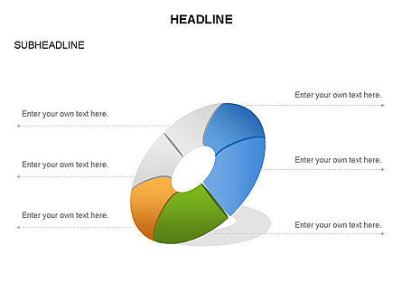 Donut Diagram Toolbox, Slide 29, 03409, Pie Charts — PoweredTemplate.com