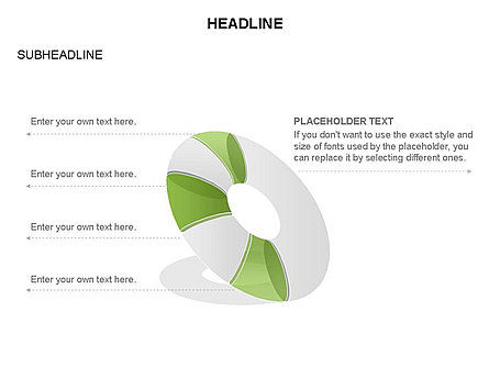 Donut Diagram Toolbox, Slide 39, 03409, Pie Charts — PoweredTemplate.com