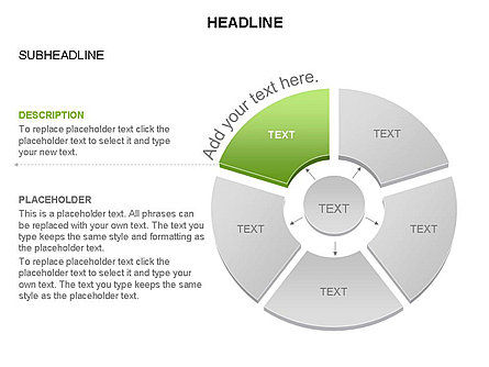 Donut Chart With Core Toolbox, Slide 32, 03410, Pie Charts — PoweredTemplate.com