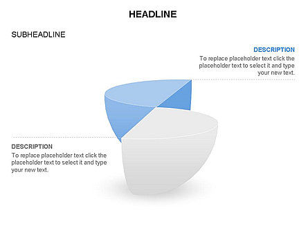 Spherical Staircase Pie Chart Toolbox, Slide 11, 03412, Pie Charts — PoweredTemplate.com