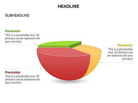 Spherical Staircase Pie Chart Toolbox, Slide 13, 03412, Pie Charts — PoweredTemplate.com