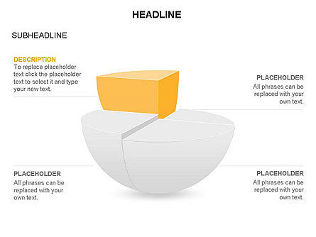 Spherical Staircase Pie Chart Toolbox, Slide 15, 03412, Pie Charts — PoweredTemplate.com