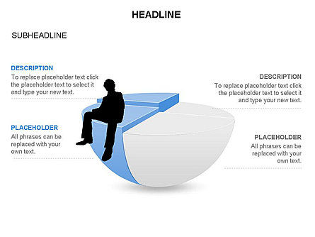 Spherical Staircase Pie Chart Toolbox, Slide 16, 03412, Pie Charts — PoweredTemplate.com
