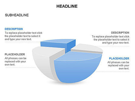 Spherical Staircase Pie Chart Toolbox, Slide 17, 03412, Pie Charts — PoweredTemplate.com
