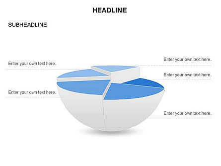 Spherical Staircase Pie Chart Toolbox, Slide 18, 03412, Pie Charts — PoweredTemplate.com