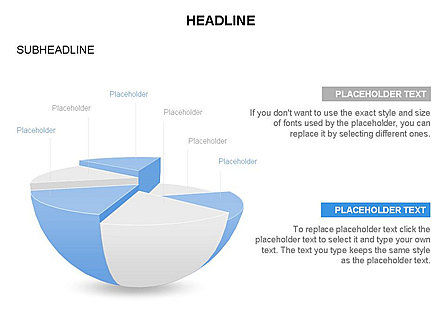 Spherical Staircase Pie Chart Toolbox, Slide 19, 03412, Pie Charts — PoweredTemplate.com