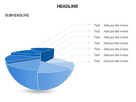 Spherical Staircase Pie Chart Toolbox, Slide 20, 03412, Pie Charts — PoweredTemplate.com