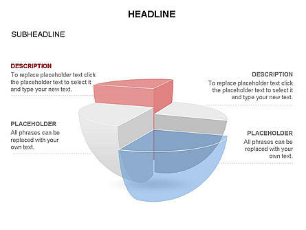 Spherical Staircase Pie Chart Toolbox, Slide 22, 03412, Pie Charts — PoweredTemplate.com