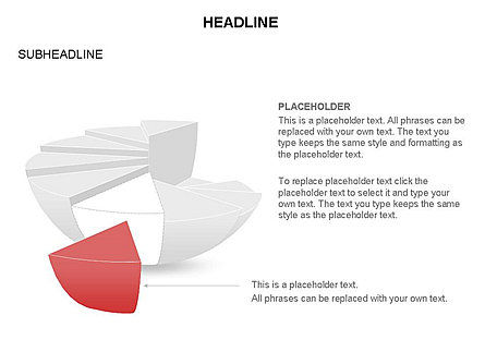 Spherical Staircase Pie Chart Toolbox, Slide 23, 03412, Pie Charts — PoweredTemplate.com
