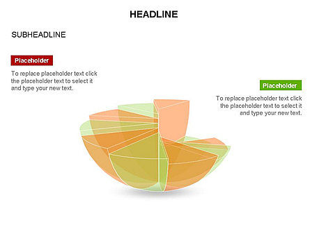Spherical Staircase Pie Chart Toolbox, Slide 25, 03412, Pie Charts — PoweredTemplate.com