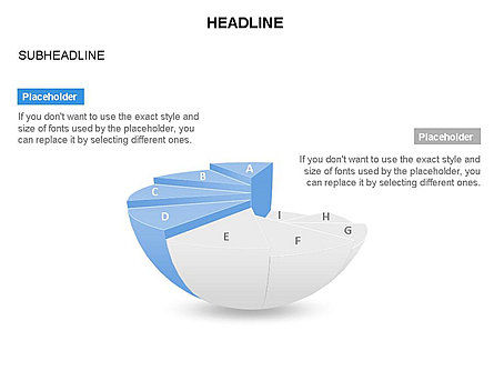 Spherical Staircase Pie Chart Toolbox, Slide 26, 03412, Pie Charts — PoweredTemplate.com