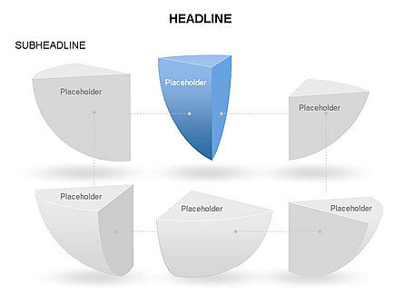 Spherical Staircase Pie Chart Toolbox, Slide 27, 03412, Pie Charts — PoweredTemplate.com