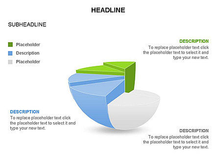 Spherical Staircase Pie Chart Toolbox, Slide 28, 03412, Pie Charts — PoweredTemplate.com