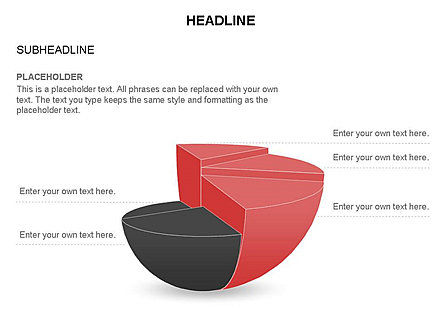 Spherical Staircase Pie Chart Toolbox, Slide 29, 03412, Pie Charts — PoweredTemplate.com