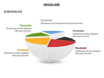 Spherical Staircase Pie Chart Toolbox, Slide 32, 03412, Pie Charts — PoweredTemplate.com