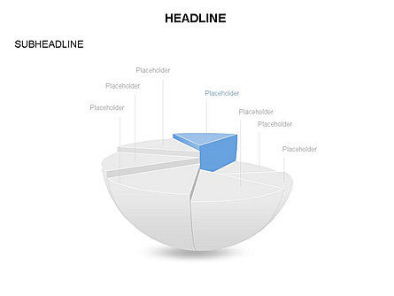 Spherical Staircase Pie Chart Toolbox, Slide 7, 03412, Pie Charts — PoweredTemplate.com