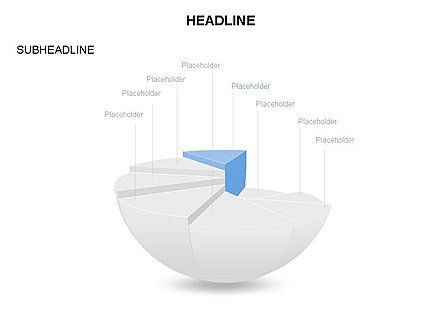 Spherical Staircase Pie Chart Toolbox, Slide 8, 03412, Pie Charts — PoweredTemplate.com
