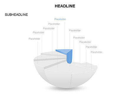 Spherical Staircase Pie Chart Toolbox, Slide 9, 03412, Pie Charts — PoweredTemplate.com