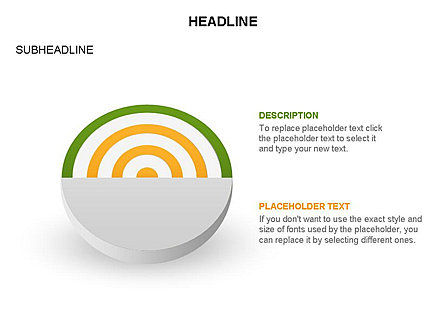 Spherical Aim Diagram, Slide 34, 03414, Shapes — PoweredTemplate.com