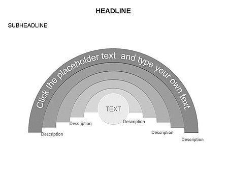 Semicircle Diagram, Slide 13, 03415, Stage Diagrams — PoweredTemplate.com