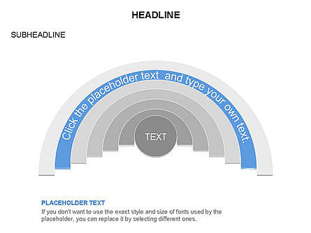 Semicircle Diagram, Slide 14, 03415, Stage Diagrams — PoweredTemplate.com