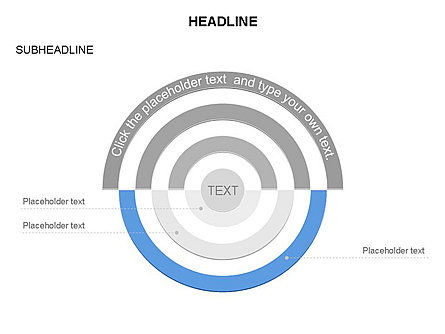 Semicircle Diagram, Slide 15, 03415, Stage Diagrams — PoweredTemplate.com