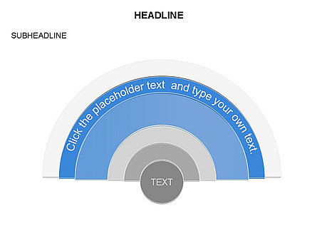 Semicircle Diagram, Slide 17, 03415, Stage Diagrams — PoweredTemplate.com