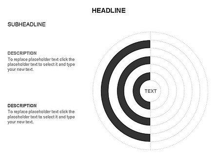 Semicircle Diagram, Slide 21, 03415, Stage Diagrams — PoweredTemplate.com