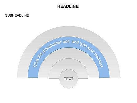Semicircle Diagram, Slide 3, 03415, Stage Diagrams — PoweredTemplate.com