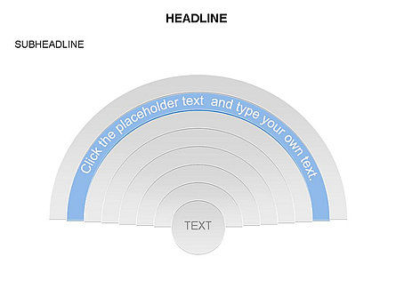 Semicircle Diagram, Slide 6, 03415, Stage Diagrams — PoweredTemplate.com