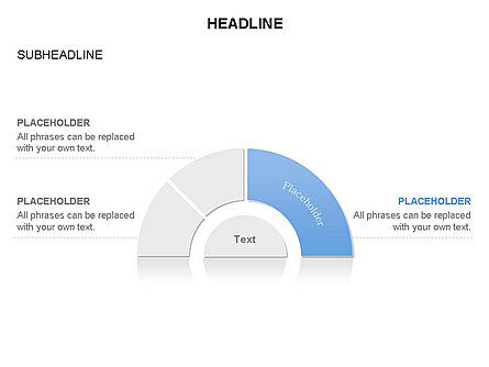 Staged Semicircle Diagram, Slide 11, 03416, Pie Charts — PoweredTemplate.com