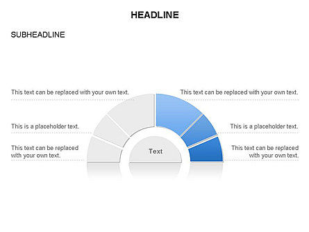 Staged Semicircle Diagram, Slide 14, 03416, Pie Charts — PoweredTemplate.com